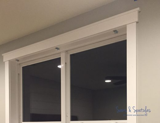 Master bedroom window trim