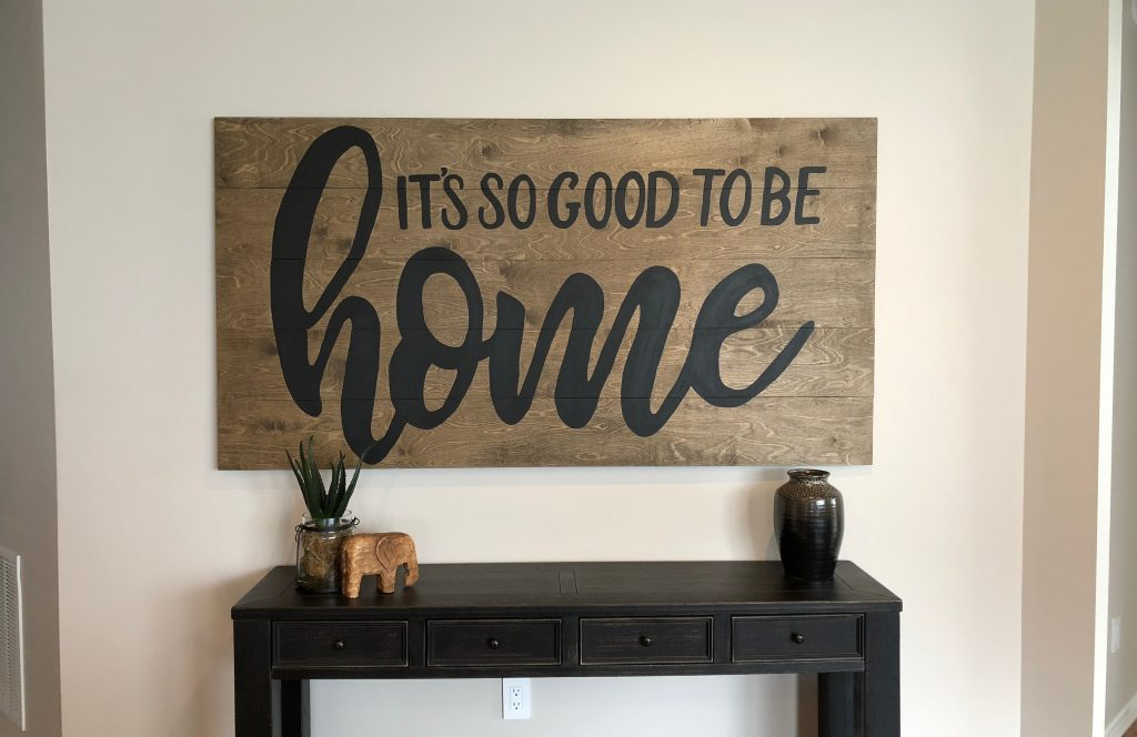 Revised wall art with matte finish