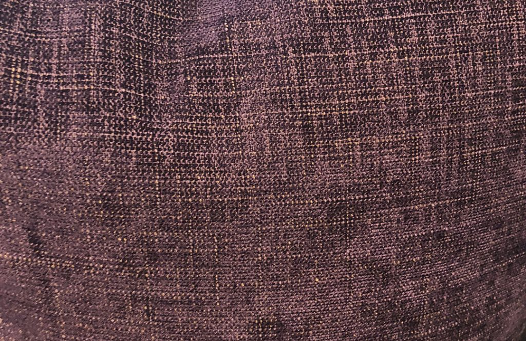 Close-up of purple pillow texture