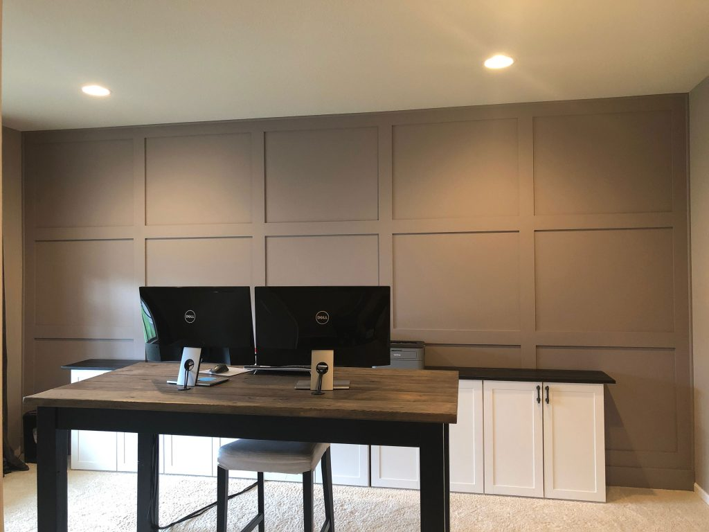 Board and batten accent wall