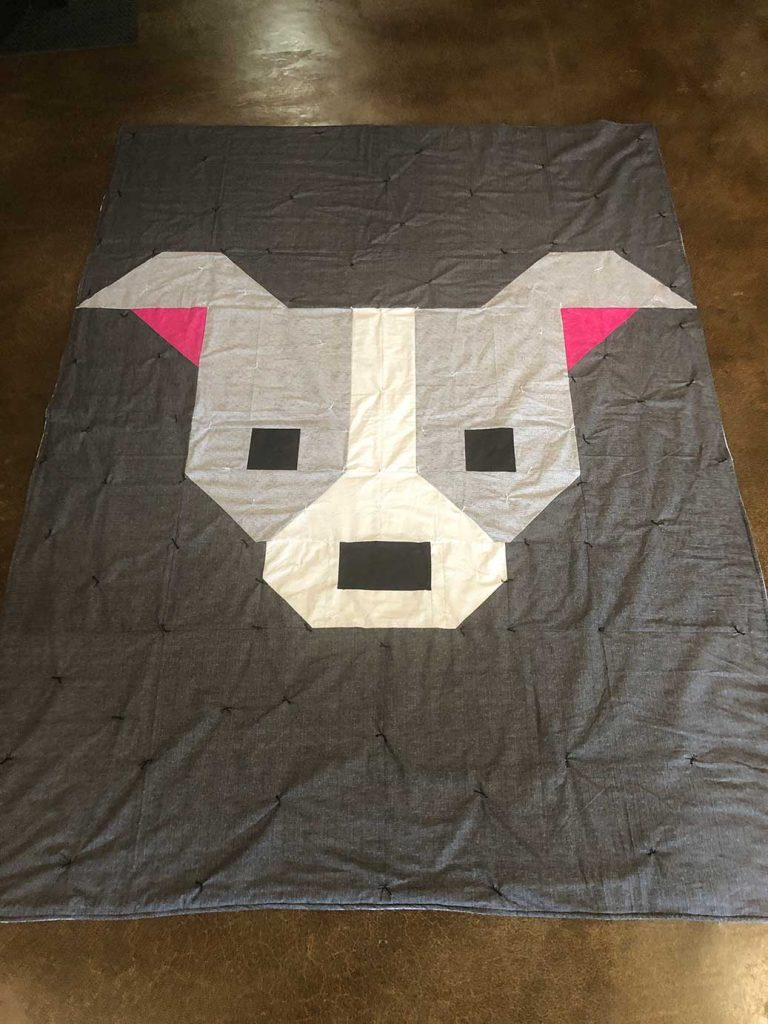 Finished pit bull quilt